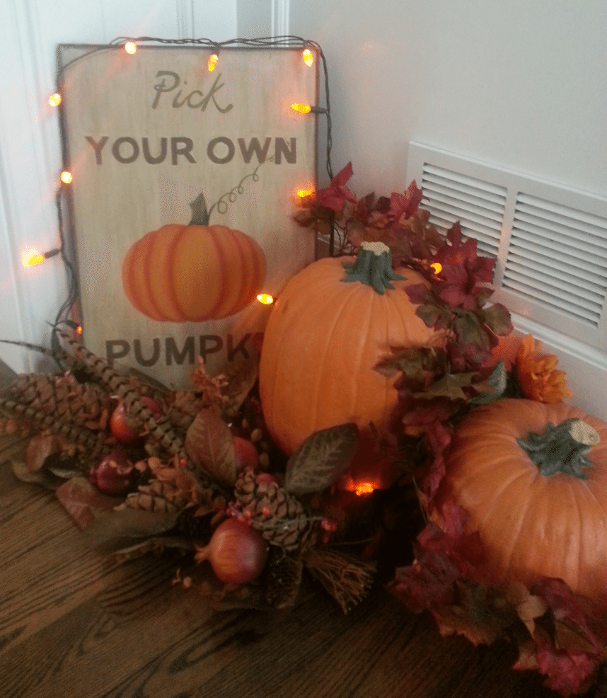 Pumpkin Floor Decor