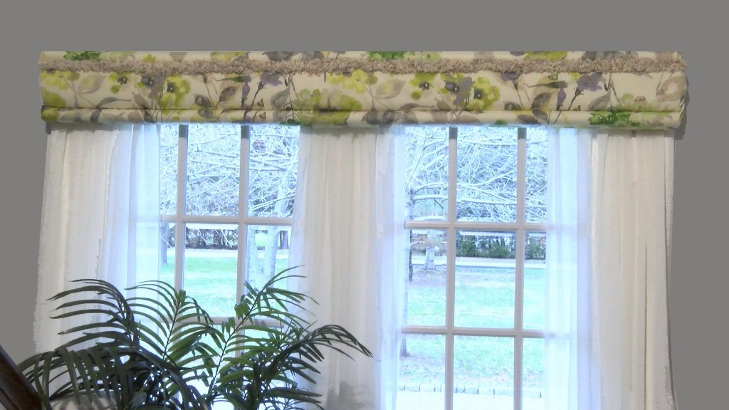 Homemade Valances For Windows : Deco wrap the original no sew cornice kit made in usa