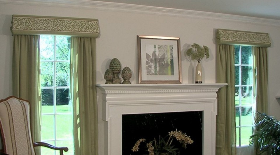Curtains and window treatments cornices valances drapery